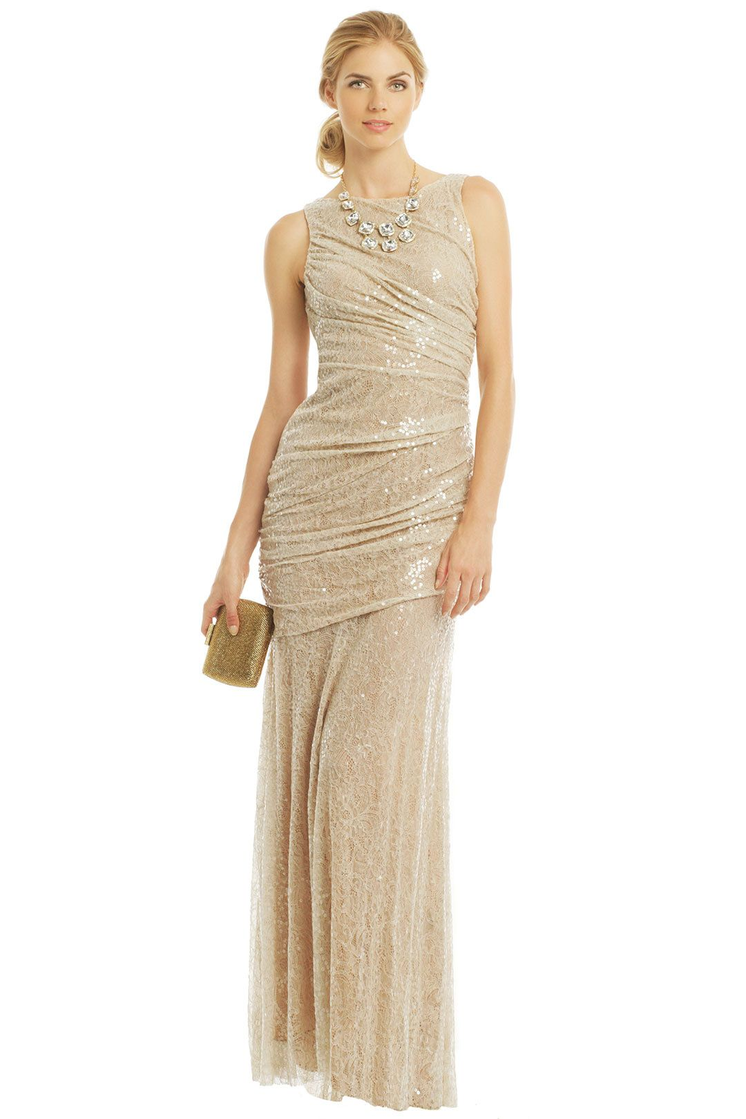 Renting wedding dresses  Beaded Metallic and Sequined Bridesmaid Dresses