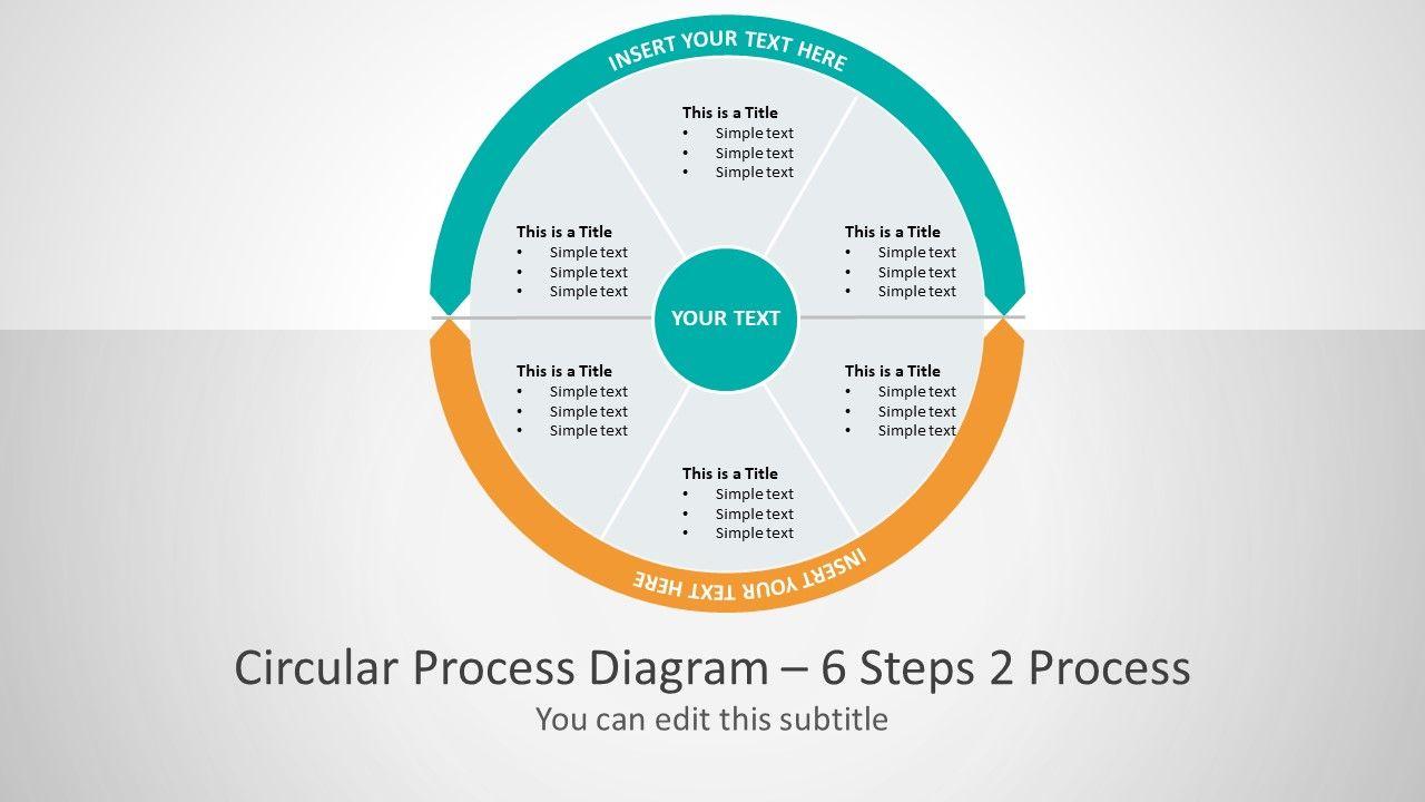 2 Process Business Presentation Layout Powerpoint Slide Designs Process Flow Diagram Diagram Design