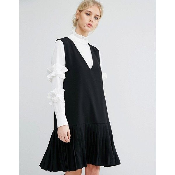 Zacro Sleeveless Shift Dress With Pleated Hem 57 Liked On