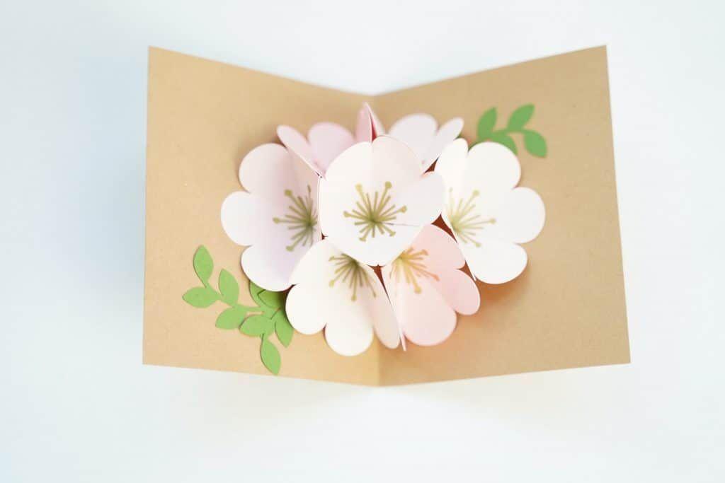 Cricut Pop Up Flower Bouquet Domestic Heights Pop Up Flower Cards Pop Up Cards Pop Up Card Templates
