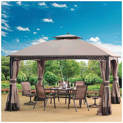 Wilson Fisher Windsor Gazebo With Netting 10 X 12 Big Lots In 2020 Gazebo Big Lots Backyard Gazebo Gazebo