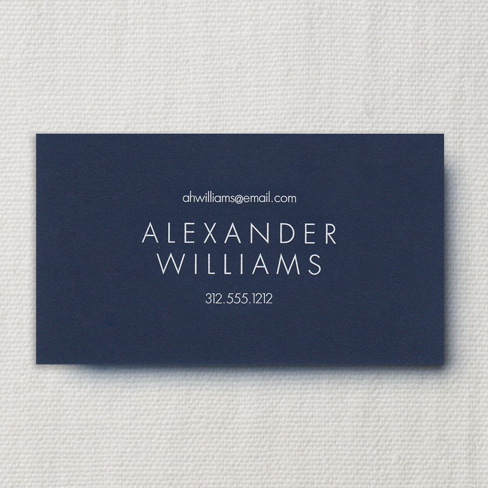 Oxford Engraved Navy Calling Card Business Cards Crane Com Calling Cards Cards Oxford