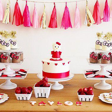 A Modern Hello Kitty Second Birthday Party Piata 2 aos