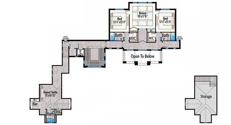 Plan 86067bw Stunning 7 Bed Luxury House Plan Luxury House Plans House Plans Mansion Floor Plan