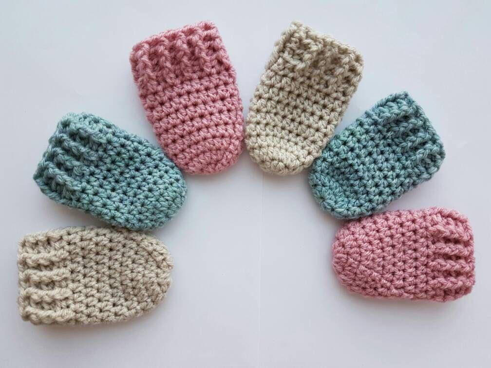 1 Paar Baby Wantjes Gehaakte Wanten Handschoenen Baby Mittens