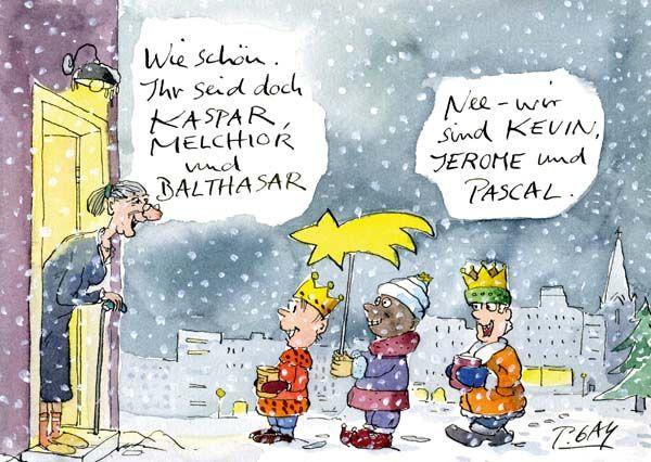 Peter gaymann postkarte heilige drei k nige pinteres - Lustige silvester sms ...
