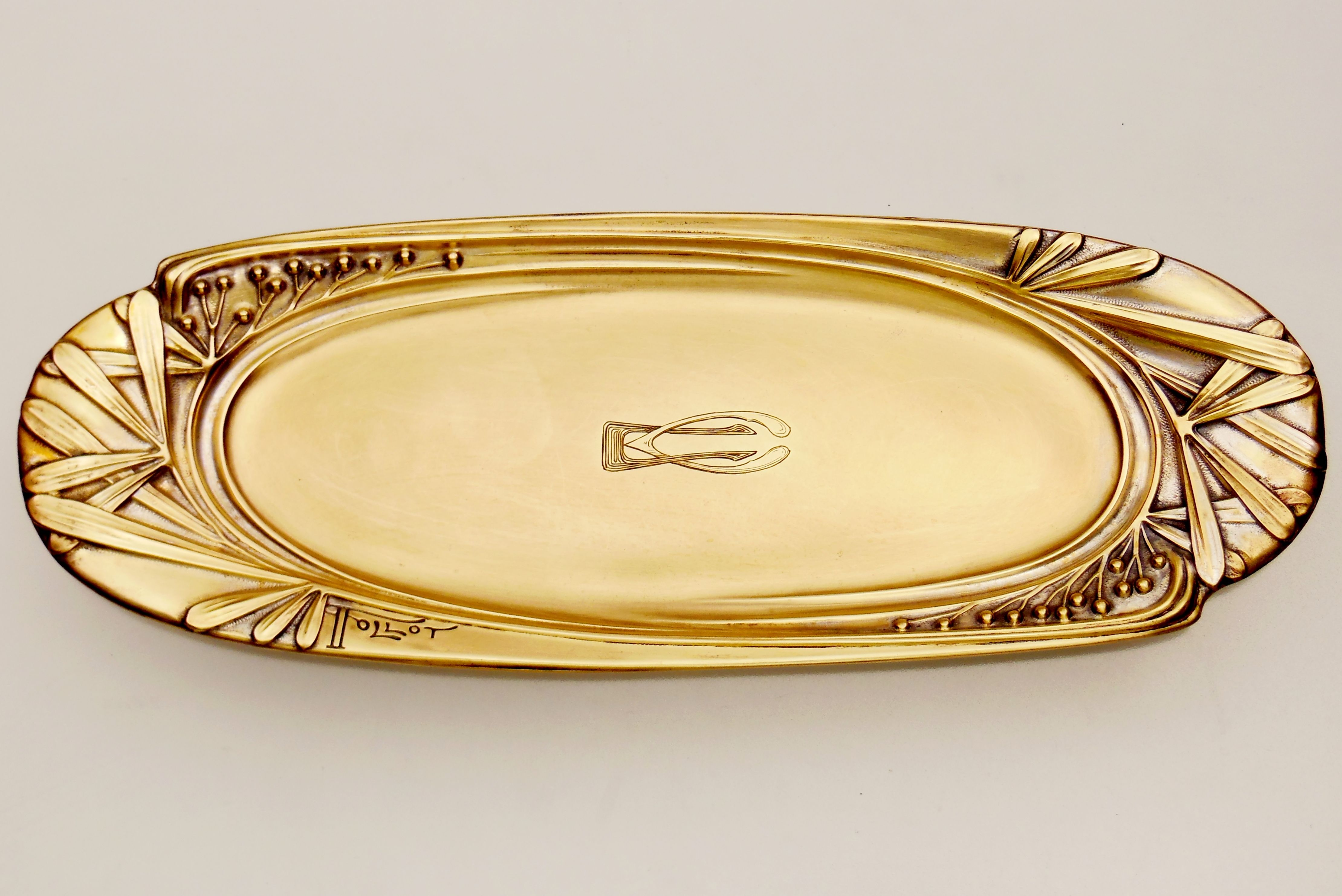 Tablet (Brass) designed by PAUL FOLLOT   Executed : QUIST ...