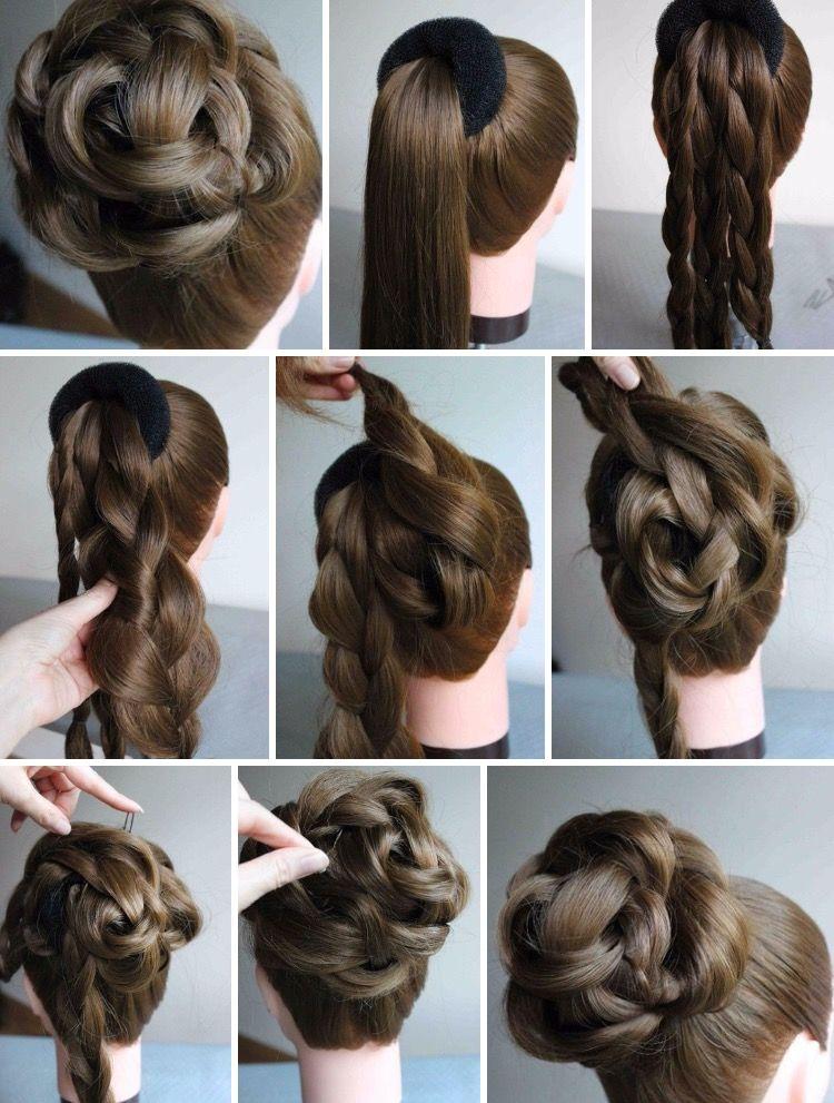 Pin By Mary Ann On Volosy Long Hair Styles Hair Donut Hair Style Recogido