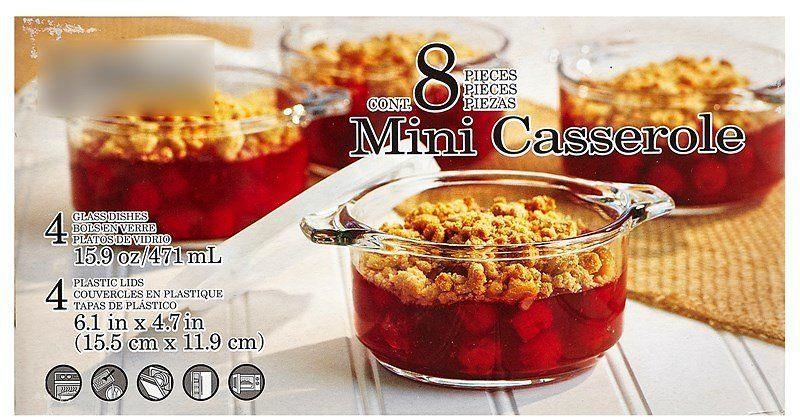 Mini 8Piece Casserole Glassware Casserole, Glassware, Mini