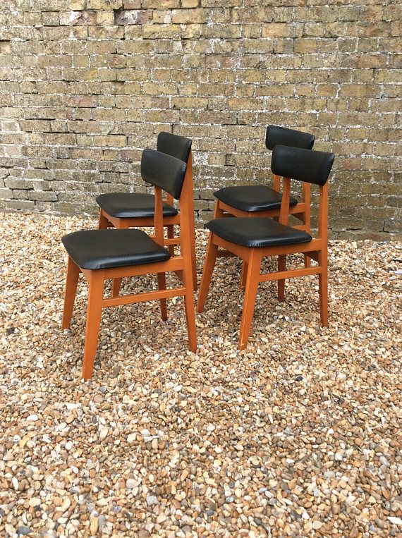 Marvelous Reserved For Louise Black Vinyl Dining Chairs Retro Kitchen Gmtry Best Dining Table And Chair Ideas Images Gmtryco