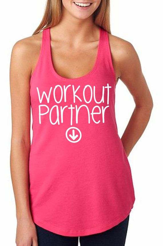 b9852bce321cb1 Workout Partner Tank Baby Pregnant Pregnancy Women s by RodDesigns ...