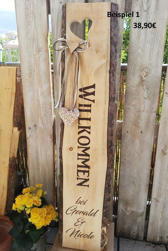 Photo of Wooden display wishings label decorator wooden stele Welcome…
