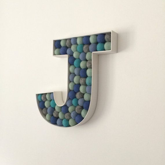 Personalised Baby Gift, Letter J, Large Wooden Letter, New Baby - gift letter