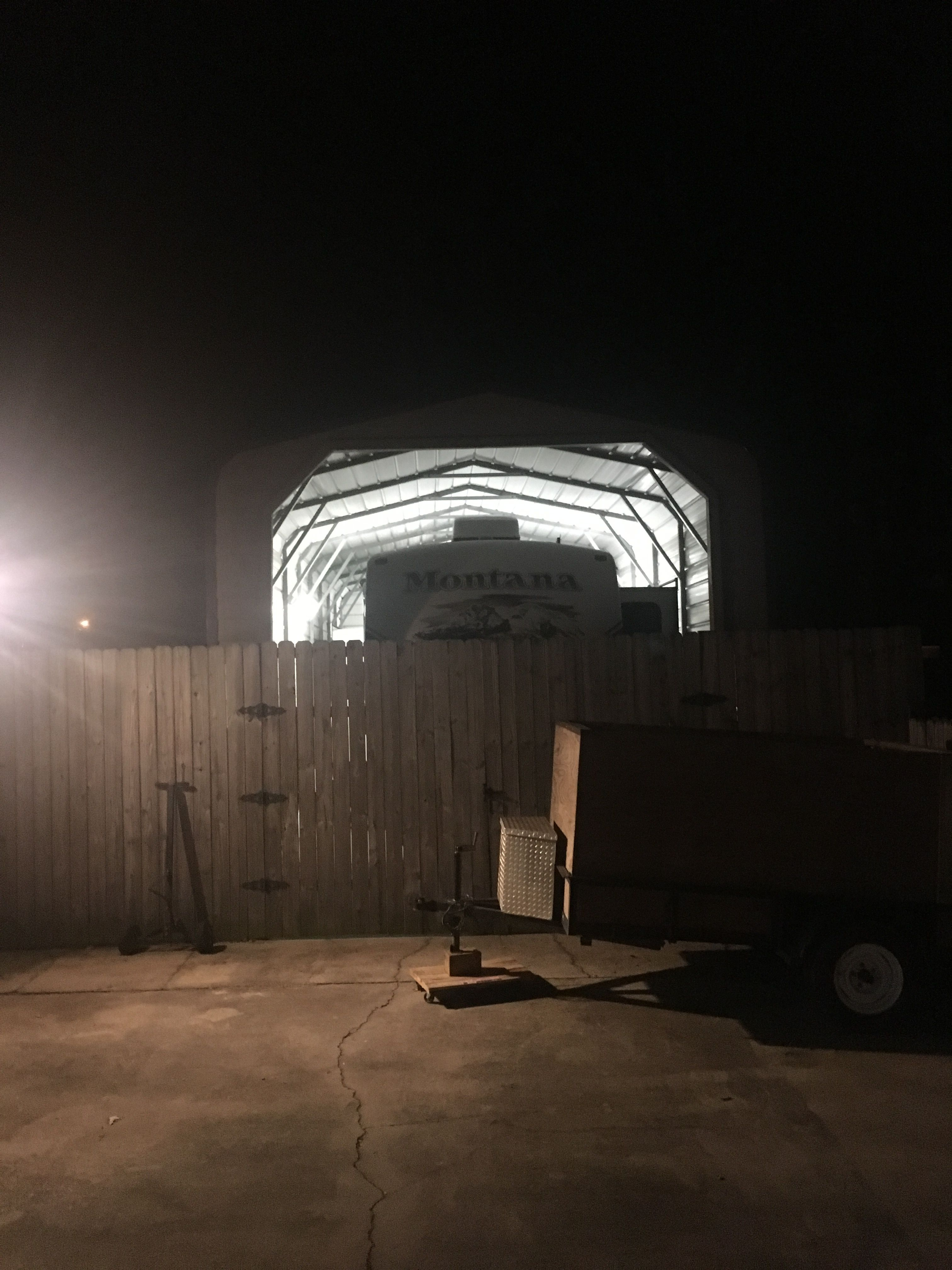 Added a few enclosed fluorescent light fixtures to the rv shed to ...
