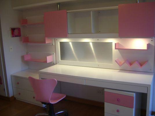 Escritorio blanco y violeta escritorios de chicos for Muebles para chicos