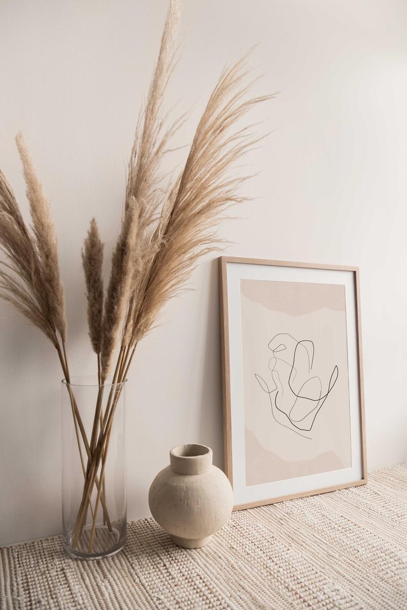 abstract figures print | abstract art | minimal art | digital wall art | DIY wall art | printable wall art | bedroom home decor | line art