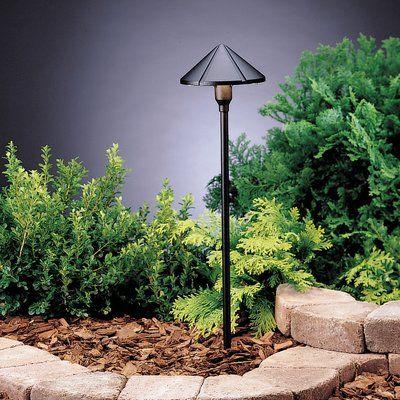 Kichler 1 Light Pathway Light Finish Textured Black Outdoor Path Lighting Path Lights Landscape Lighting