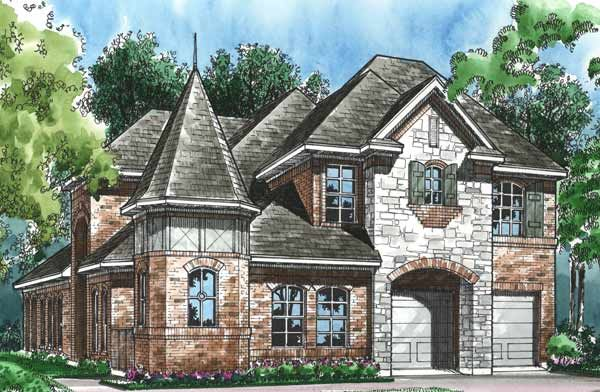 End Turret House Plans Cool House Designs Castle House
