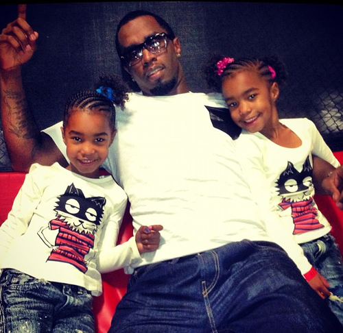 Christmas Card P Diddy Poses With Children