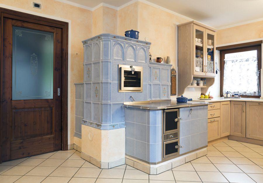 Stufe tirolesi in maiolica cerca con google camino rustic ceramica e home - Cucina economica elettrica ...