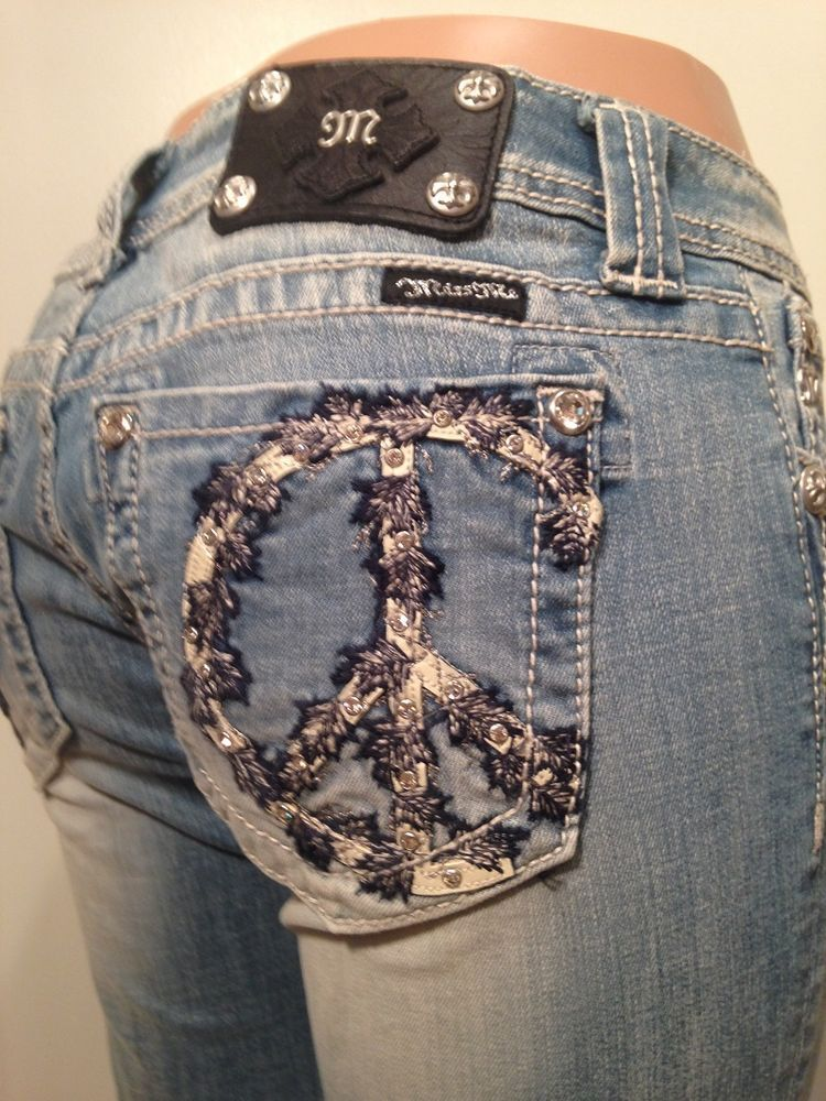 Miss me jeans size 30 ivy peace flare jp5356f2 nwt | Ivy, Peace ...