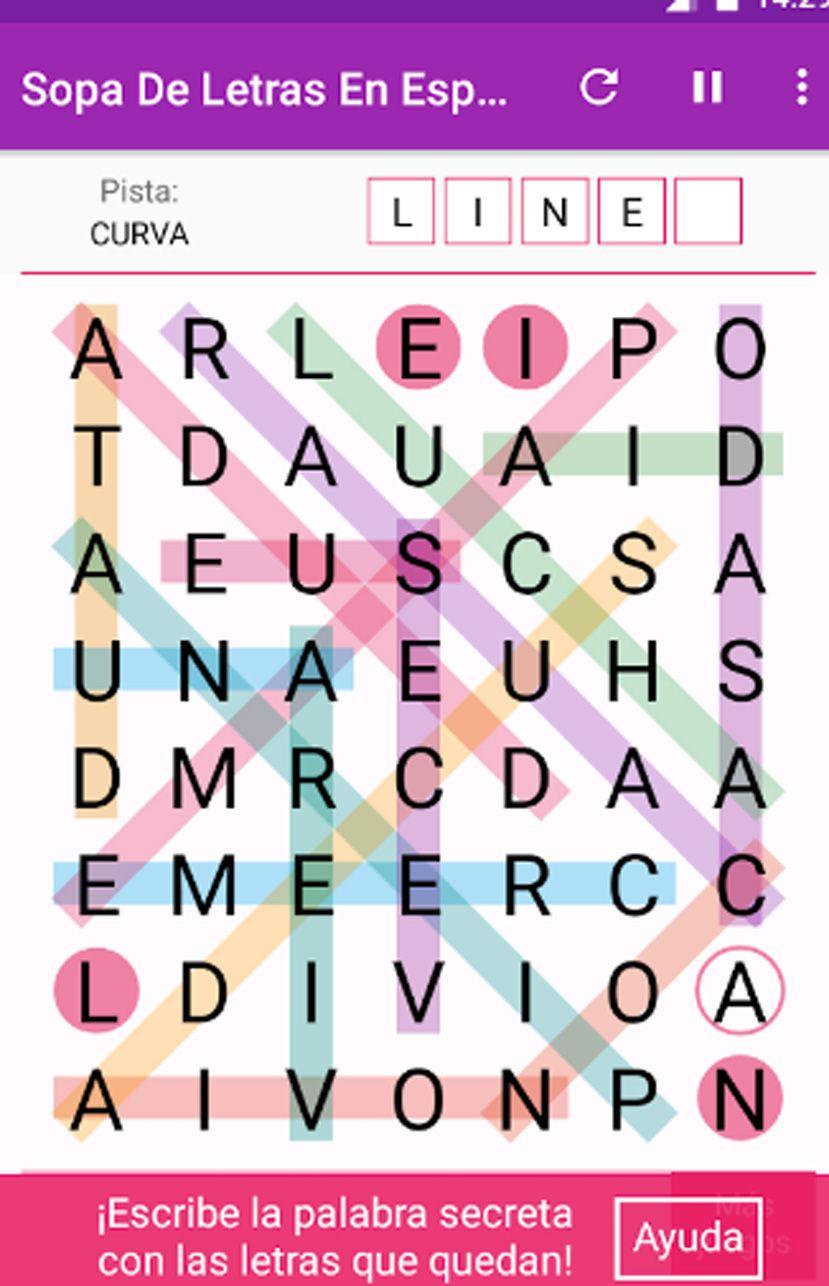 Sopa De Letras Para Jugar Para Adultos Juego Android Sopa De Letras Letras De Animales Letras