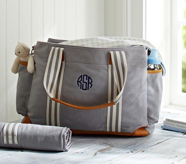 Cutest Monogrammed Baby Diaper Bag