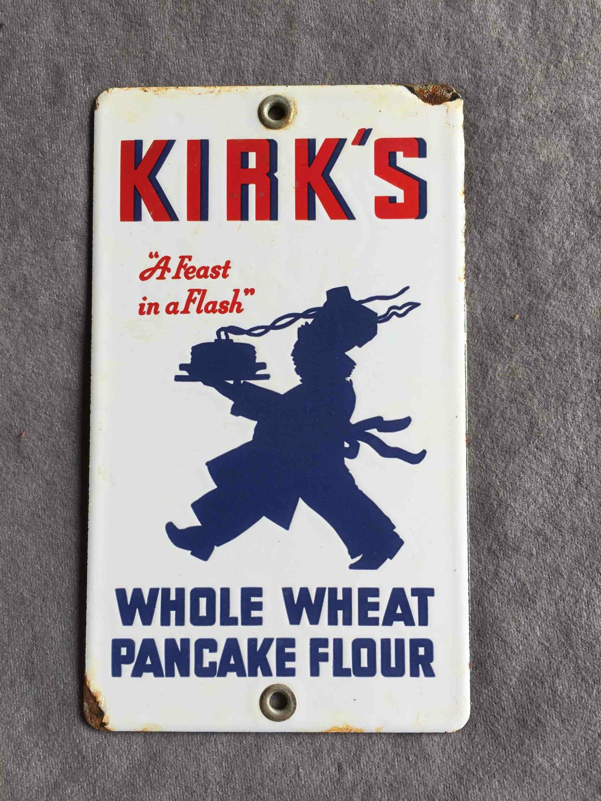 Vintage wooden music stand book stand by vintagearcheology on etsy - Vintage Kirk S Whole Wheat Pancake Flour Porcelain Advertising Door Push Sign