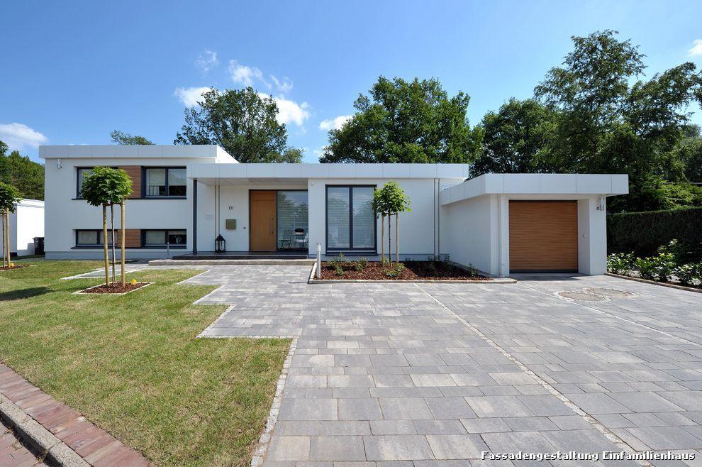 Fassade Einfamilienhaus fassadengestaltung einfamilienhaus bauhaus look haus fassade with