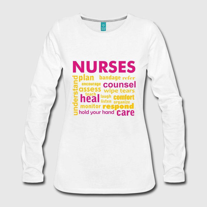 Nurse Inspirational Words Womens Premium Long Sleeve T Shirt