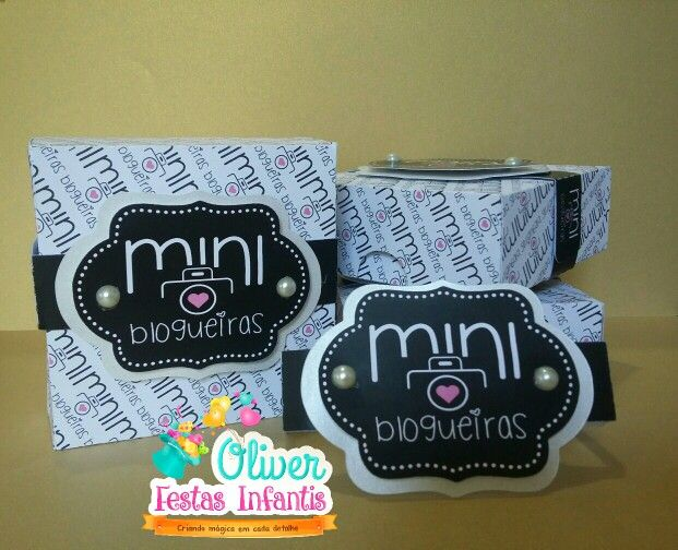 Caixa para o pessoal do Mini Blogueiras by Oliver Festas Infantis.