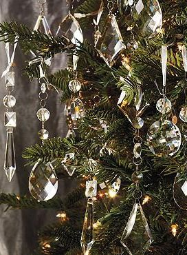 Crystal Droplets With Silver Hangers Set Of 24 Frontgate Crystal Christmas Tree Christmas Decorations Christmas Tree Ornaments