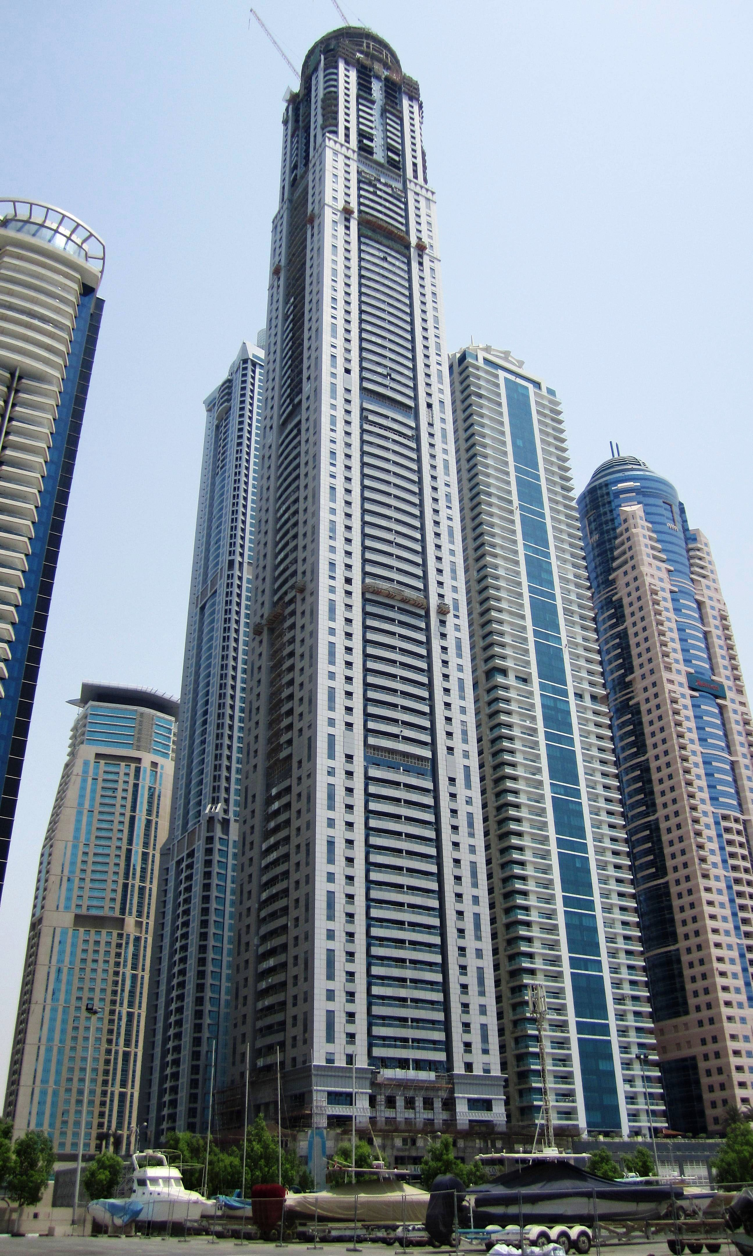 The Princess Tower Is A 101 Storey 414 M 1 358 Ft Tall Residential Skyscraper Located In The Marina District Of Dubai Uae Princess Tower Has Been Arkitektur