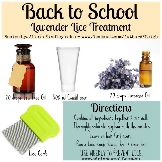Natural lice treatment. Great for treating and preventing lice. Hoping we won't ever need this, but school is approaching and you just never know
