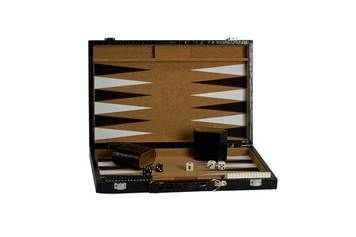 "15"" Cork Backgammon Game Set. Come & see all our classic board games and get something for Dad for Father's Day while you're at it! http://www.thegamesupply.com/backgammon-game-sets/"