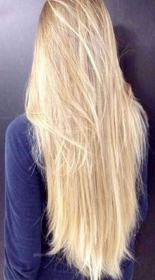 Lange blonde haare stufig