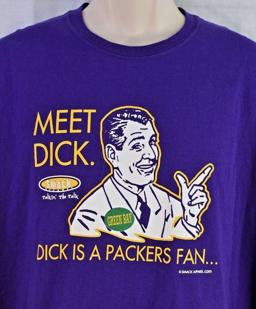 570f03be3 Dick Is A Packers Fan. Don t Be A Dick T-Shirt Size 2XL Purple   Gold   Gildan  MinnesotaVikings