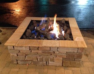 Square Gas Fire Pit Gas Fire Pits Outdoor Gas Firepit Outdoor Fire Pit