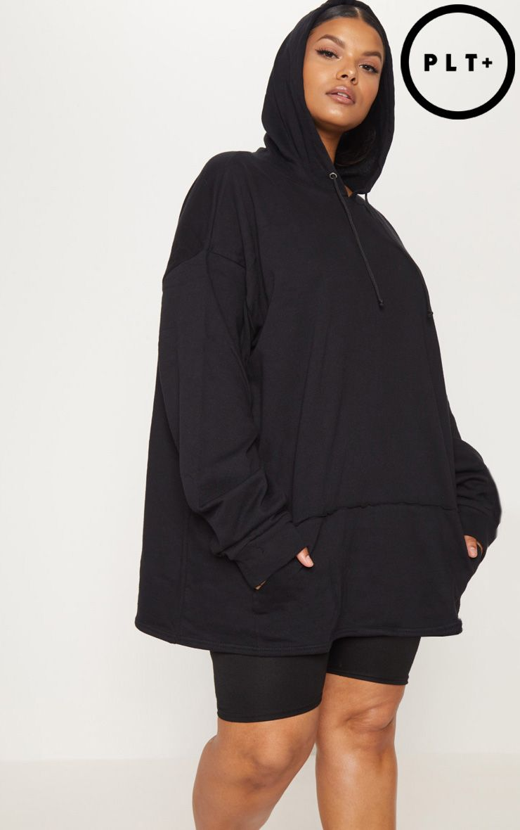3e8489d9369 Plus Black Oversized Hoodie in 2019