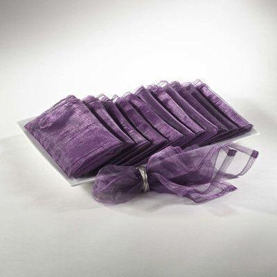 Bloomsbury Market Shelia Polyester Organza Dinner Napkin Color: Purple