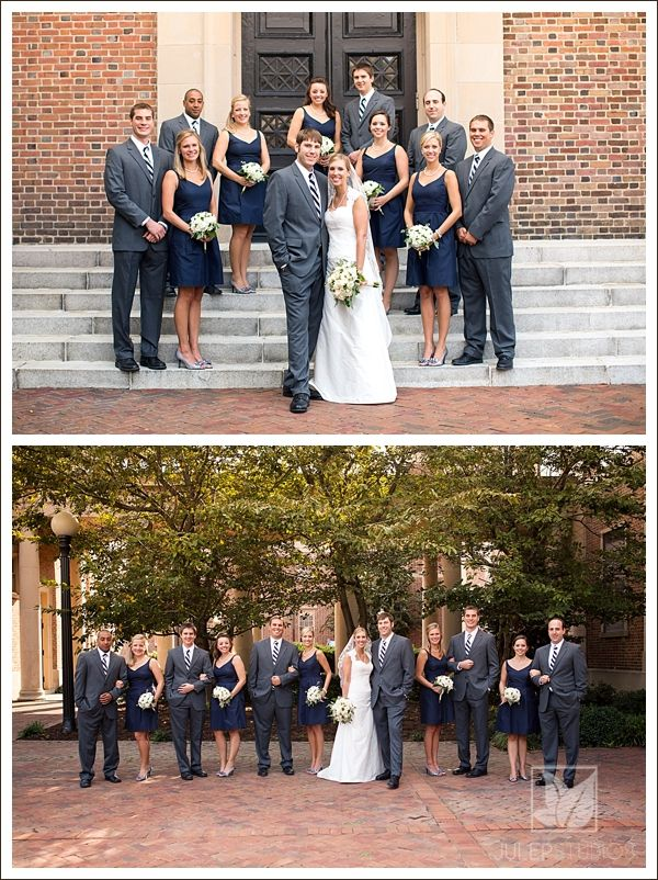 Navy Gray Color Scheme Traditional Wedding Navy Bridesmaid Dress Gray Suit Www Julepstudios Com