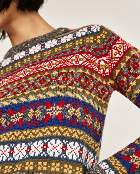 Image 6 of CROPPED JACQUARD SWEATER from Zara | Current fashion ...