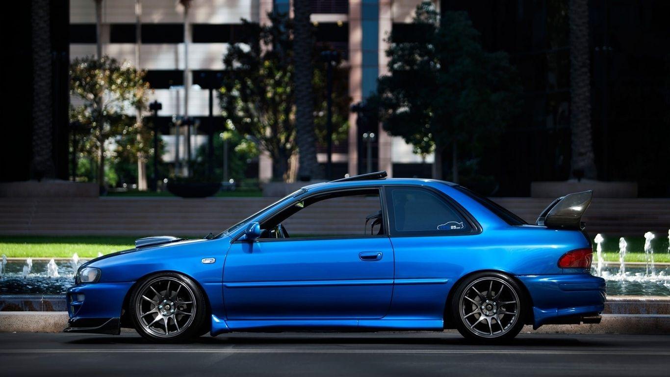 1366x768 car, sport, sti, wallpaper, tuning, car