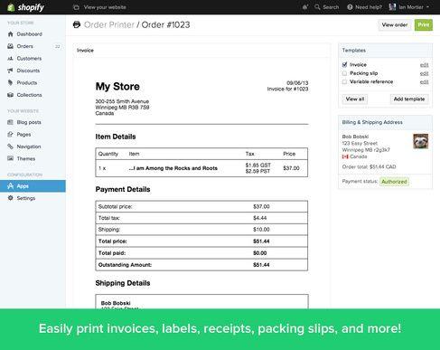 Shopify Order Printer App Order Fulfilment Moolk Pinterest