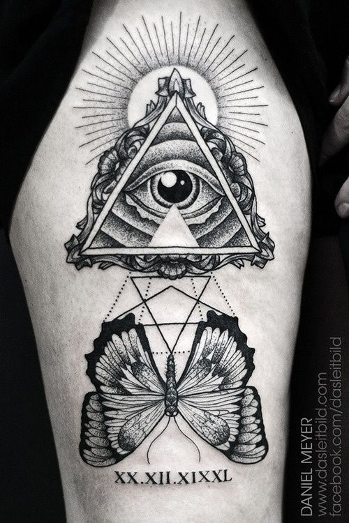 Illuminati Eye Tattoo Meaning Butterfly And Illumina...