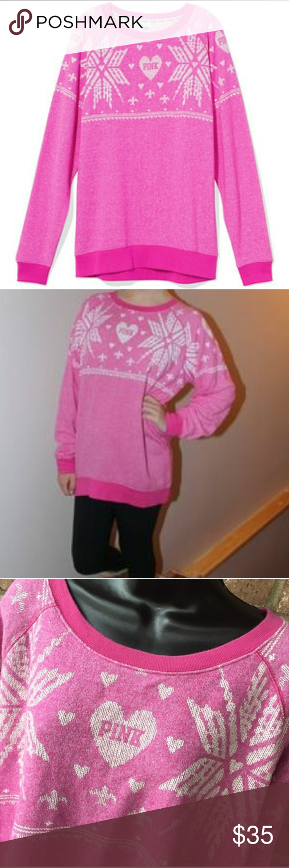 Victoria's Secret pink Christmas sweater VS Pink 'Ugly Sweater ...