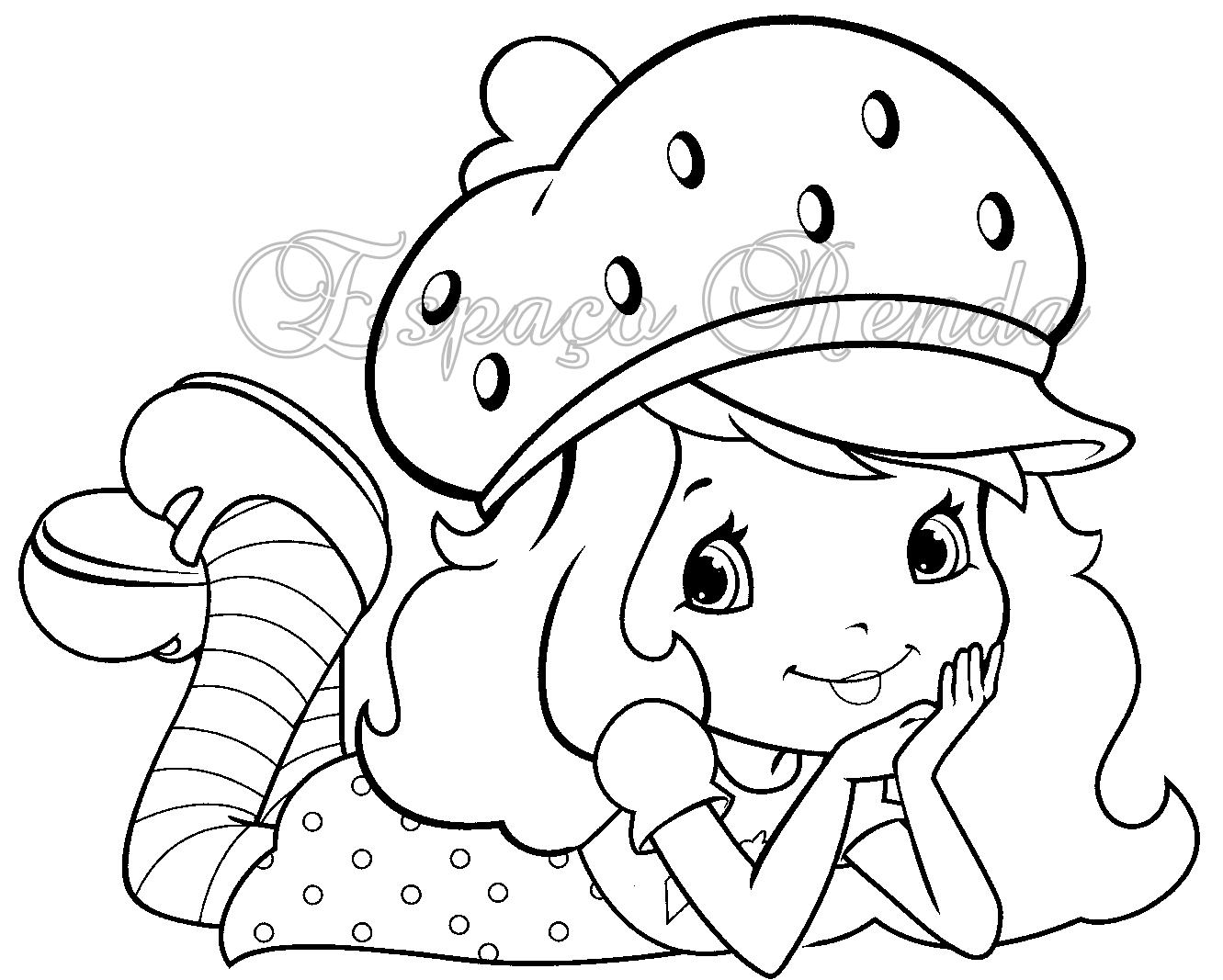 desenhos para colorir moranguinho para pintar coloring pages