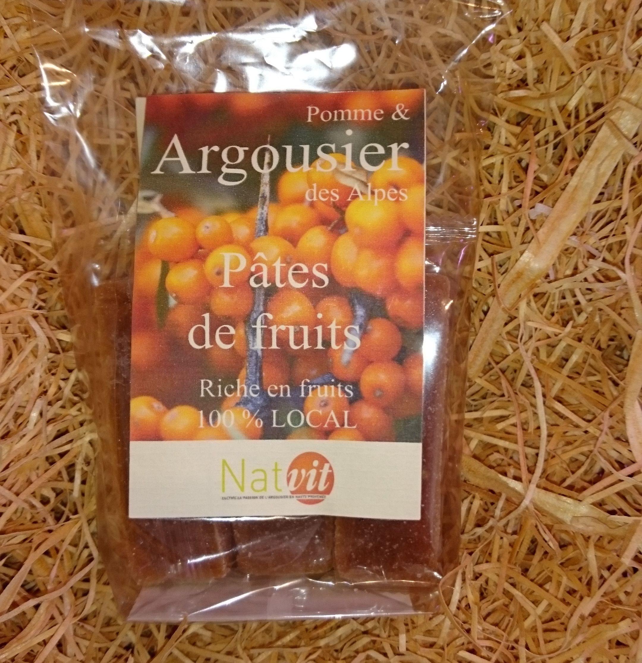 Pâtes de fruits à l'argousier bio 180g