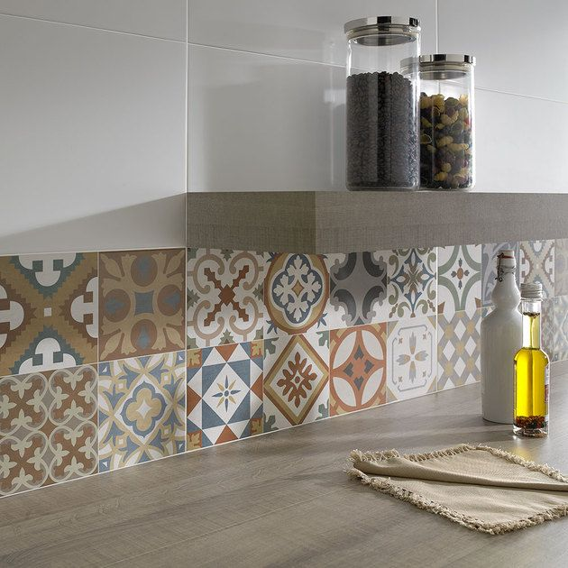 Top Patchwork Tile Backsplash Designs For Kitchen Pinterest - Patchwork fliesen küche