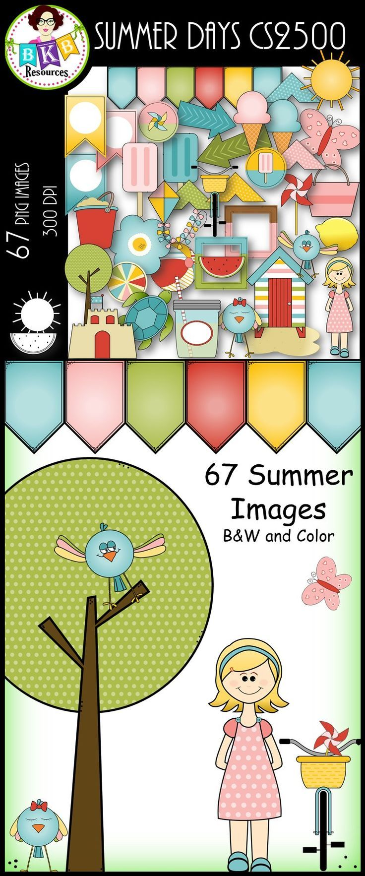 Summer Days CS2500○ Clip Art ○ Products for TpT Sellers